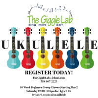 Youth Beginner Ukulele @ The Giggle Lab