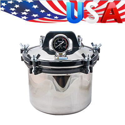 8l High Pressure Steam Sterilizer Medical Dental Tattoo Autoclave Sterilization