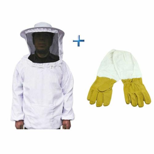 Beekeepers Schutzanzug Imkerjacke Hut Schleier Imker Jacke Imkerei Handschuhe !!
