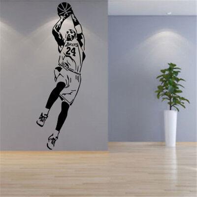 Kobe Bryant 24 Fadeaway Shot Decal NBA Basketball Player Wall Sticker Home Decor