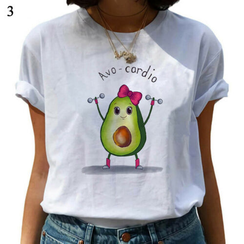 Fashion Women Casual Summer Short Sleeve Tee Cartoon Cotton TShirt Blouse Tops