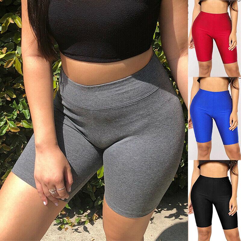 Women Cycling Yoga Shorts Gym Biker Hot Pants Cotton Sports