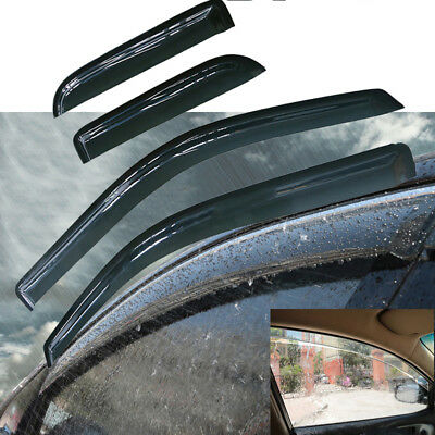 Cab Sun Visors - For 04-14 FORD F150 SUPER CAB SUN/RAIN GUARDS VENT DEFLECTORS WINDOW VISORS USA