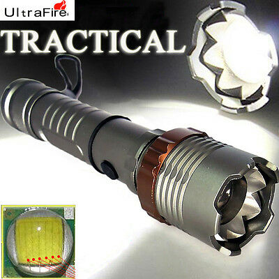 8000LM Tactical Ultrafire CREE XM-L T6 LED Zoomable 18650 Flashlight Torch Lamp