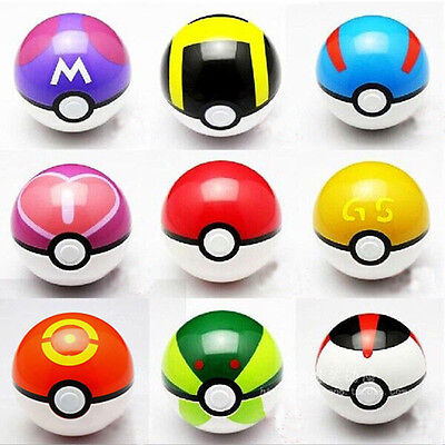9pcs Pokemon Pokeball + 24pcs Action Figures Random Cosplay Pop-up BALL Kid - Spongebob 24