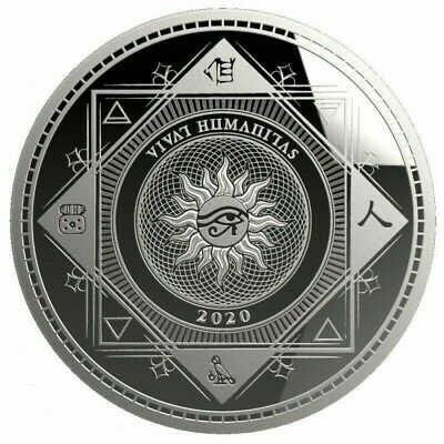 VIVAT HUMANITAS 2020 - $5 Dollars TOKELAU 2020 1 oz Silver Bullion coin