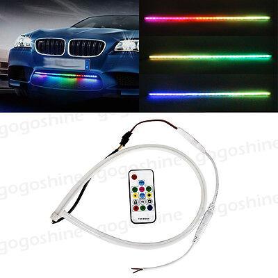 "24"" RGB LED Strip Light Knight Rider Scanner Neon Grill Under Spoiler Hood Kit"