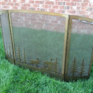 Fireplace Screen (Indoor) (Custom Welded Outdoor Scene)