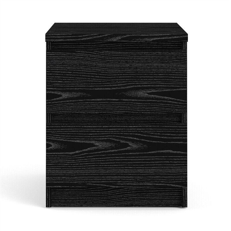 Tvilum Scottsdale 2 Drawer Wood Nightstand in Black Woodgrain