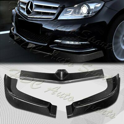 For 2012-2014 Mercedes C-Class W204 Real Carbon Fiber  Front Bumper Body Kit Lip