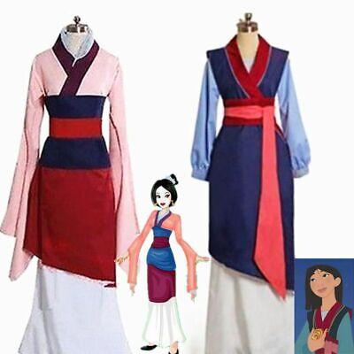 Mulan Halloween Costume (Hua Mulan Princess Party Fancy Dress Movie Cosplay Costume Halloween Adults)