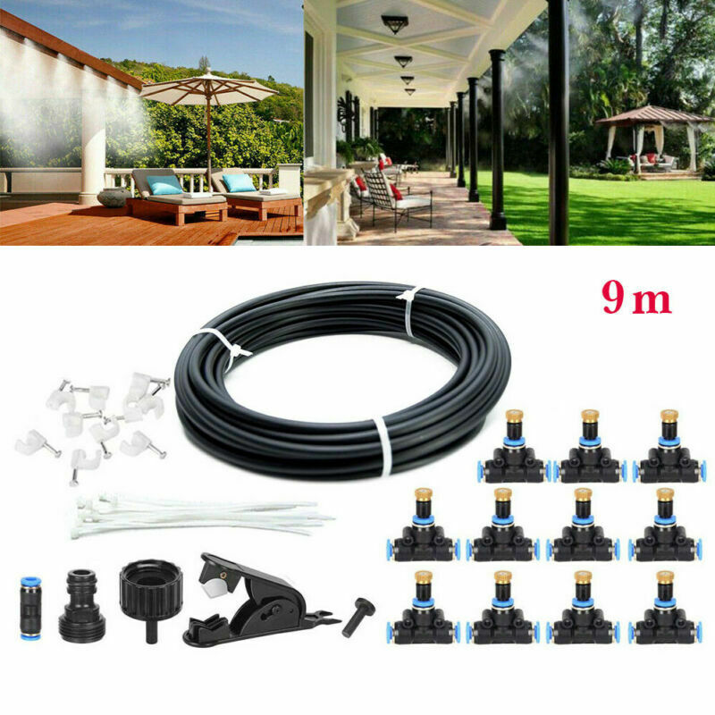 30FT Outdoor Patio Water Mister Mist Nozzles Misting Cooling System