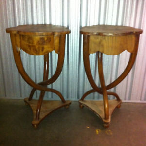 Antique Pair Of Egyptian Made Revival Art Deco Tables