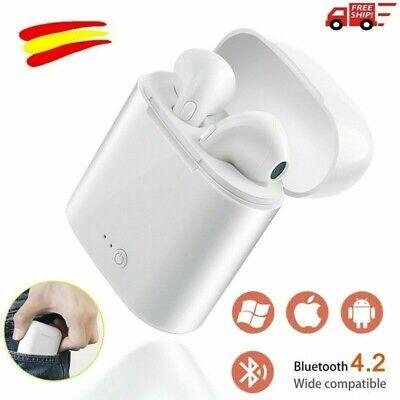 Auriculares inalámbrico Bluetooth Auriculares blancos con caja de carga