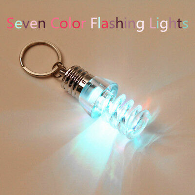 1PC Mini 7 Color Bulb Torch Changing LED Keyring Flashlight Light Bulb Key Chain](Led Keychain)