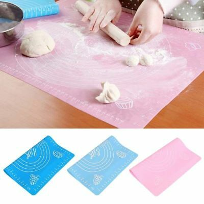 Silicone Mat Rolling Cut Mat Sugarcraft Fondant Pastry Icing Dough Tool Kitchen -