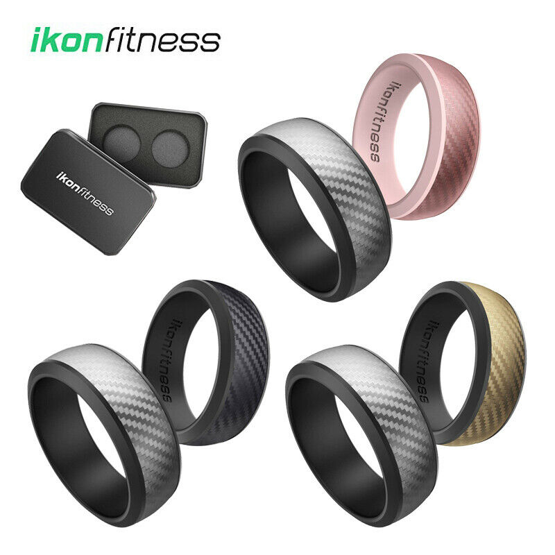silicone wedding ring for men women rubber