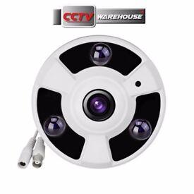 Fisheye 1080p 2MP HD-TVI-CVI-AHD-CVBS 4 in 1 Camera