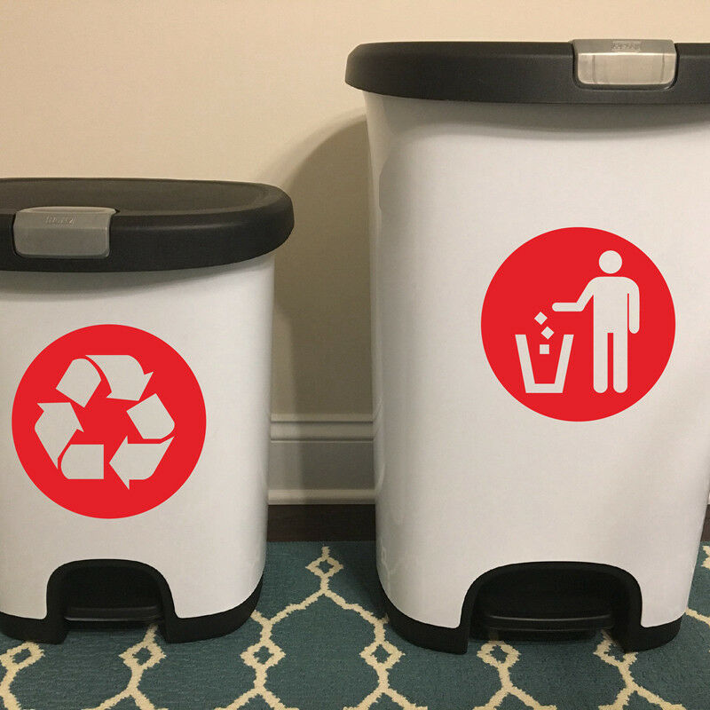 trash can classification sign bin and general