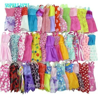 12Pcs Wedding Fashion Gown Dresses Clothes For Barbie Dolls UK
