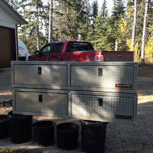 Checker plate truck tool boxes
