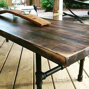 Custom reclaimed wood furniture and decor