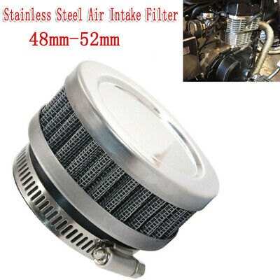 2PCS Stainless Steel Rubber Motorcycle ATV Scooter Air Cleaner Intake Filter