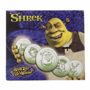 Royal Canadian Mint 5 Special Collectible Shrek Medallions/Coins