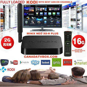 BEST XBMC*FREE TV* ANDROID TV BOX, QUAD-CORE MINIX NEO X8-H PLUS