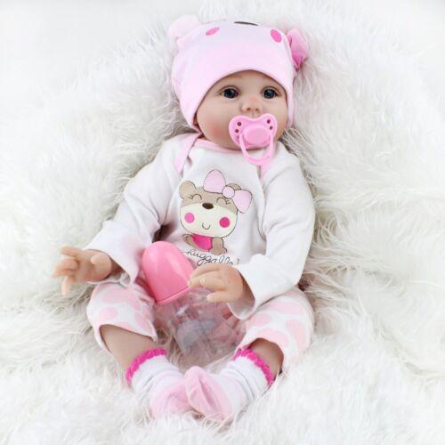 Купить 22'' Lifelike Newborn Babies Silicone Vinyl Reborn Baby Dolls Handmade Xmas Gift