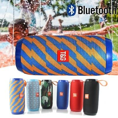Portable Bluetooth Speakers Wireless Outdoor Waterproof Bass FM Radio/TF/USB/AUX