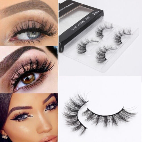 2Pairs Natural Sparse/Thick Eye Lashes Makeup Long False Eyelashes Extension
