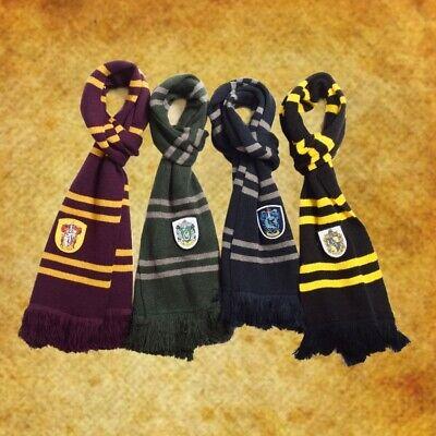 1pc HOGWARTS Schal Gryffindor/Slytherin/Hufflepuff/Ravenclaw - Hogwarts Slytherin Kostüm