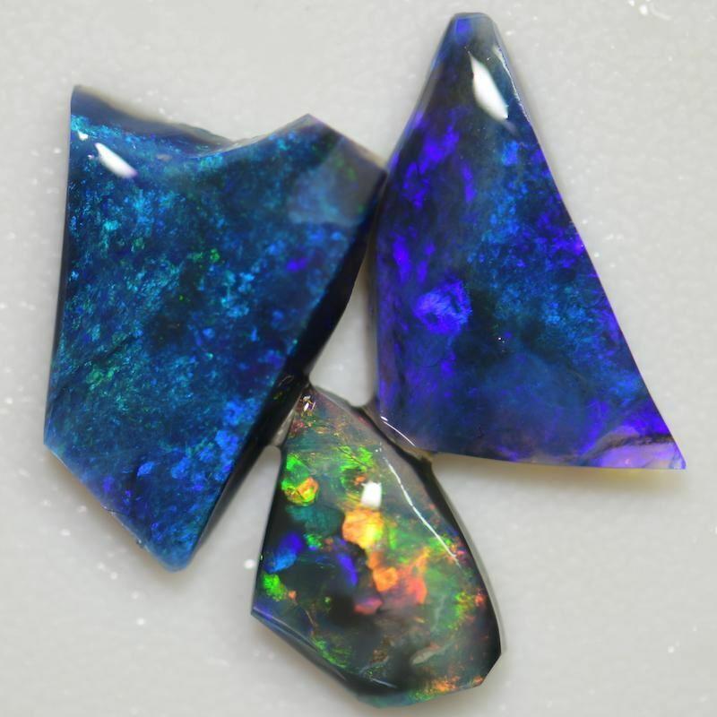 13.70 cts Australian Rough Black Opal Parcel, Rubs Lightning Ridge CMR1