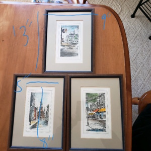 Old Montreal watercolor prints
