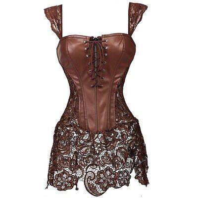 Corset Dresses Halloween Costumes (Women's Steampunk Costumes Clothing Corset Bustier Halloween Dress Waist)