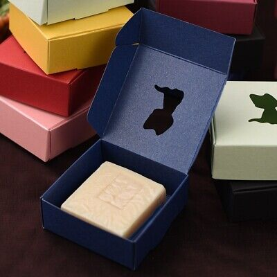 20x Handmade Soap Boxes Kraft Paper Box Gift Wedding Candy Cat Shaped Chic Decor
