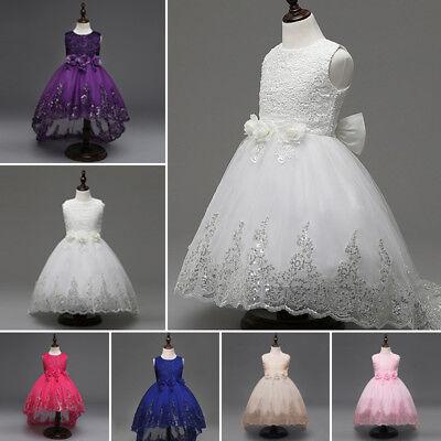 damigella matrimonio fiocco vestito da principessa abito da sera festa bambini