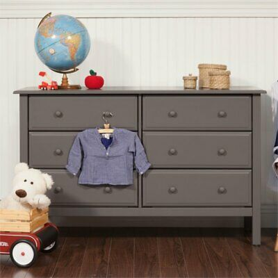 DaVinci Jayden 6 Drawer Double Dresser in Slate