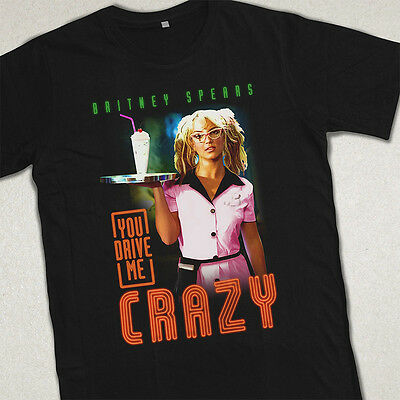 """BRITNEY SPEARS """"(YOU DRIVE ME) CRAZY"""" UNISEX T-SHIRT. VTG 1999 INSPIRED"""