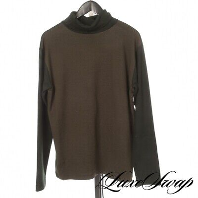 #1 MENSWEAR TSS Ts(S) Made Japan Olive Ivy Green Colorblock Thick Turtleneck 4