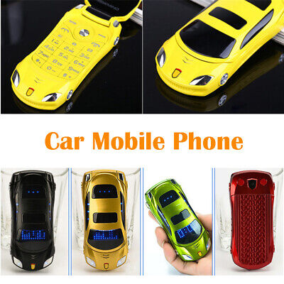 Smallest Unlocked Mini Car Mobile Phone W MP3 MP4 LED Light  Backup 2 SIM Sports