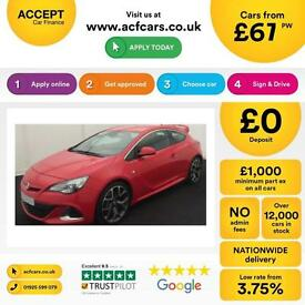 RED VAUXHALL GTC 1.4 T LIMITED EDITION SPORT 2.0 CDTI SRI VXR FROM £67 PER WEEK!