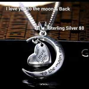 I love you to the moon & back Necklaces