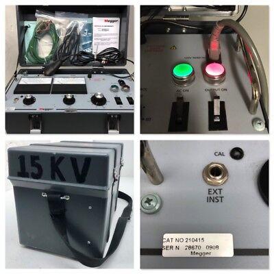 Genuine Biddle Megger 210415 15 Kv 15kv Megohmmeter Insulation Voltage Tester