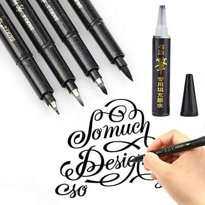 Black Calligraphy Marker (Calligraphy Pen Hand Lettering Pens Brush Black Ink Writing Drawing Art Marker )