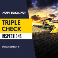 NOW BOOKING! Triple Check Inspections