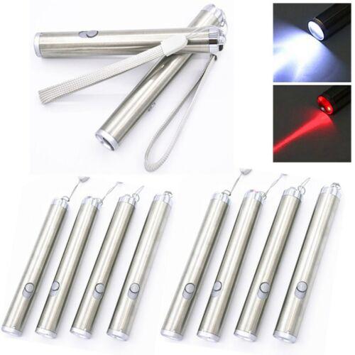 10PC Red Laser Pointer Pen 2in1 LED Flashlight AA Presentati