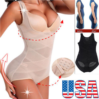 Women Full Body Seamless Shapewear Bodysuit Firm Control Girdle Corset Shaper Yj