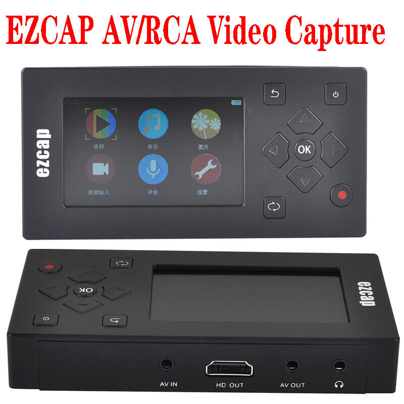 AV Recorder capture card Convert VHS Camcorder Tapes to Digi